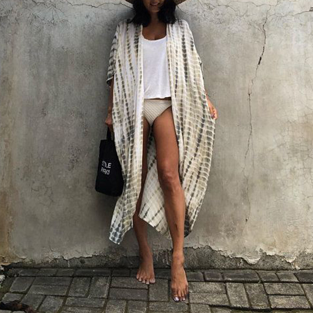 2019 Women Chiffon Print Bikini Cover Up Bathing Suit Swimwear Beach Capes Summer Swimsuit Smock Pareos De Playa Mujer Beachwear