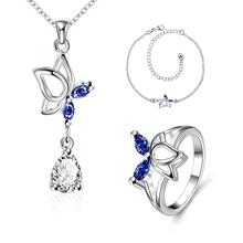S020-A Fashion popular silver plated jewelry sets for sale