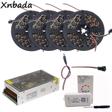 5m 10m 15m 20m WS2812B WS2812 30Leds/m 60Leds/m RGB Led Strip,SP108E WIFI Controller DC5V Power Supply Adapter Kit
