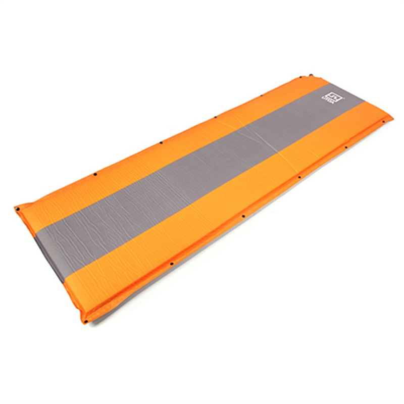AOTU Self Inflating sponge Sleeping Mat Camping Mattress Air <font><b>Bed</b></font> Single Roll Up (Orange)