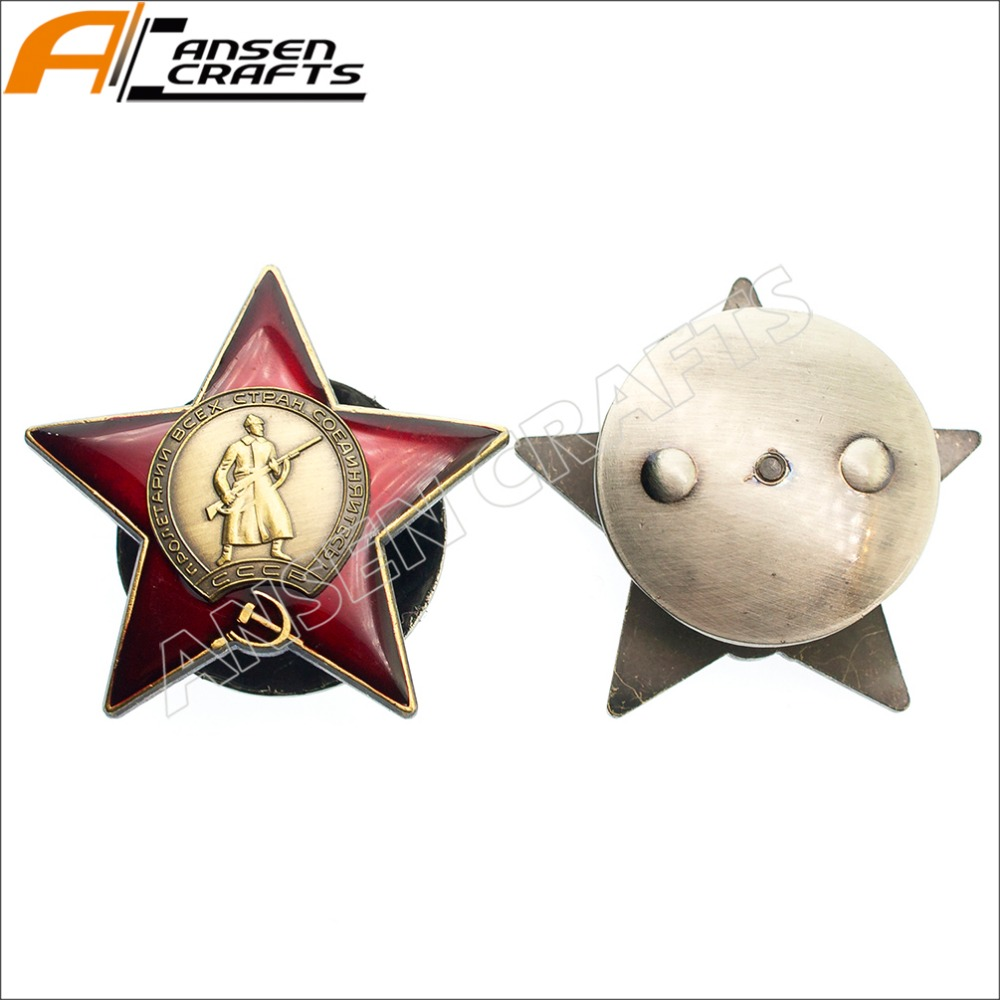 WWII CCCP Soviet Russian Combat Order of The Red Star Antique Gold ...