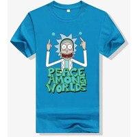 Rick Morty Rick O Neck 9 Color T Shir Homme Clothes TON Casual Wear Mens T