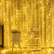 2/3/6M Curtain LED String Light Fairy Icicle LED Christmas Garland Wedding Party Patio Window Outdoor String Light Decoration(China)