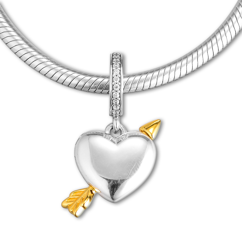 Fits For Pandora Charms Bracelets Limited Edition Arrow of Love Beads 100% 925 Sterling-Silver-Jewelry Free ShippingFits For Pandora Charms Bracelets Limited Edition Arrow of Love Beads 100% 925 Sterling-Silver-Jewelry Free Shipping