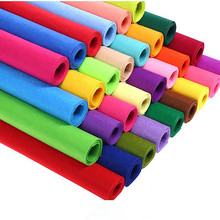 1MM Thickness Felt Polyester Nonwoven Fabric Cloth For Kids DIY Sewing Doll Handmade Arts and Crafts Home Decoration 1 Yard