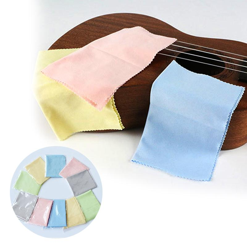 10pcs Microfiber Cleaning Polishing Polish Cloth for Musical Instrument Guitar Violin Piano Clarinet Trumpet Universal