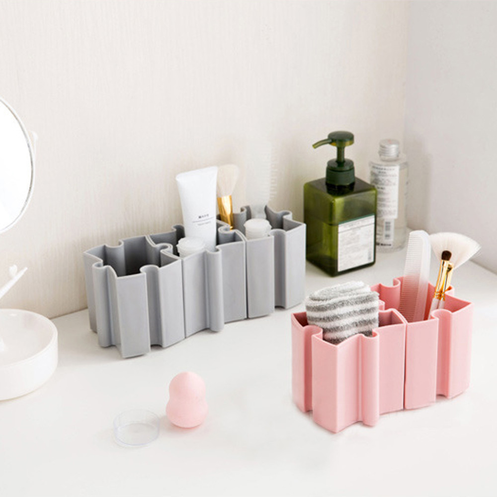 Desk Desktop Offices Storage Box Case Cosmetic Organizer Holder Pen Holder Maleta De Maquiagem