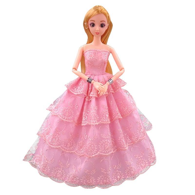 Leadingstar 11 pulgadas hermoso vestido para Barbie Muñecas ropa ...