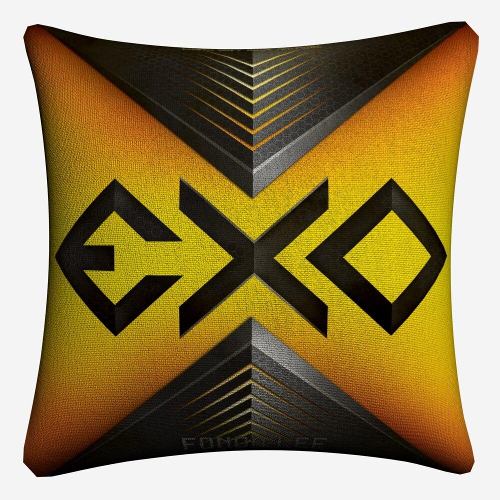 Экзо логотип цифры Дизайн Декоративные Хлопок Лен Чехлы 45x45 см бросок наволочка для дивана дома декора almofada