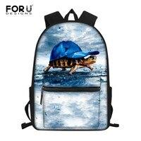 FORUDESIGNS Laptop Backpack School Bags for Teenage Boys Girls Children Book Bag Turtle Tortoise Girl Backpack cartable enfant