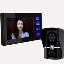 "Super Slim Unit 7"" TFT Color Video door phone Intercom Doorbell System Kit IR Camera doorphone monitor Speakerphone intercom"