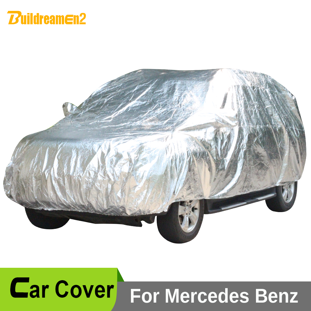 Buildreamen2 Waterproof Car Anti UV Sun Snow Rain Hail Dust Protection Covers For Mercedes-Benz GLK 200 220 250 280 300 320 350