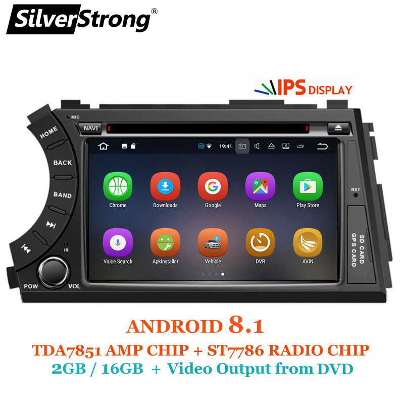 SilverStrong IPS Android8 1 2DIN Car DVD for Ssangyong Actyon Kyron DVD Video output to headrest