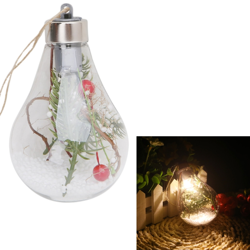 Ball Ornaments Led Clear Ball Christmas Tree Hanging Blub Light Home Holiday Ornaments Lights Reliable Performance