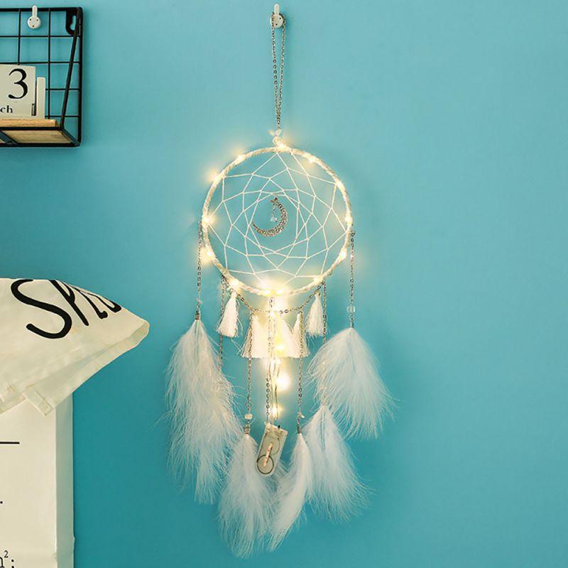 1 Stück Traum Catcher Mit String Licht Romantische Wand Hängen Ornament