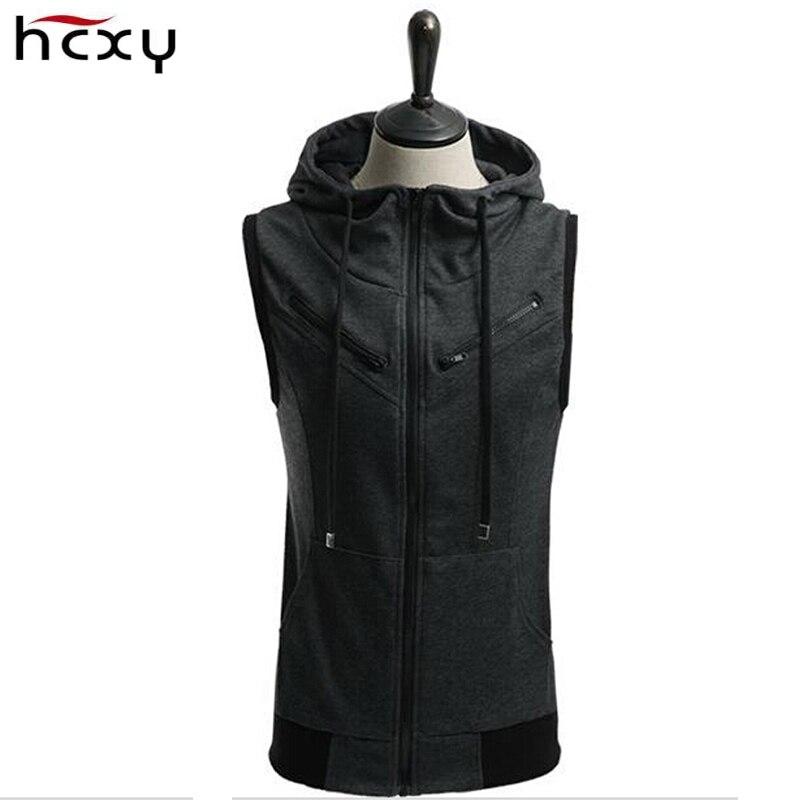 2017 Fashion Zipper Vest Men Wholesale Cotton Mens
