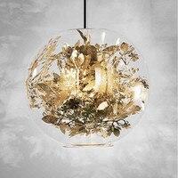 Nordic Pendant Lights Glass Hanging Lamp Modern Fish Tank Steel Flower Suspend pendant lamp Kitchen Fixtures Lighting