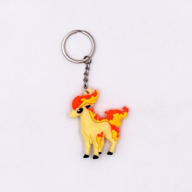 4 7cm 5 Style New Pikachu Keychain Monster Key Holder Go Key Ring Pendant 3D Mini Cubone Porygon Gengar Ponyta Abra in Movies TV from Toys Hobbies