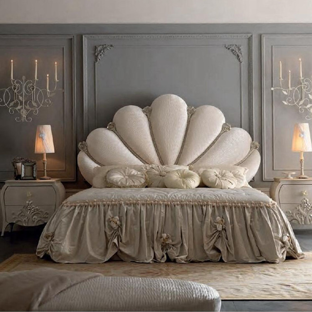 Factory Direct Sales Bedroom Furniture Fan Shaped Shell European