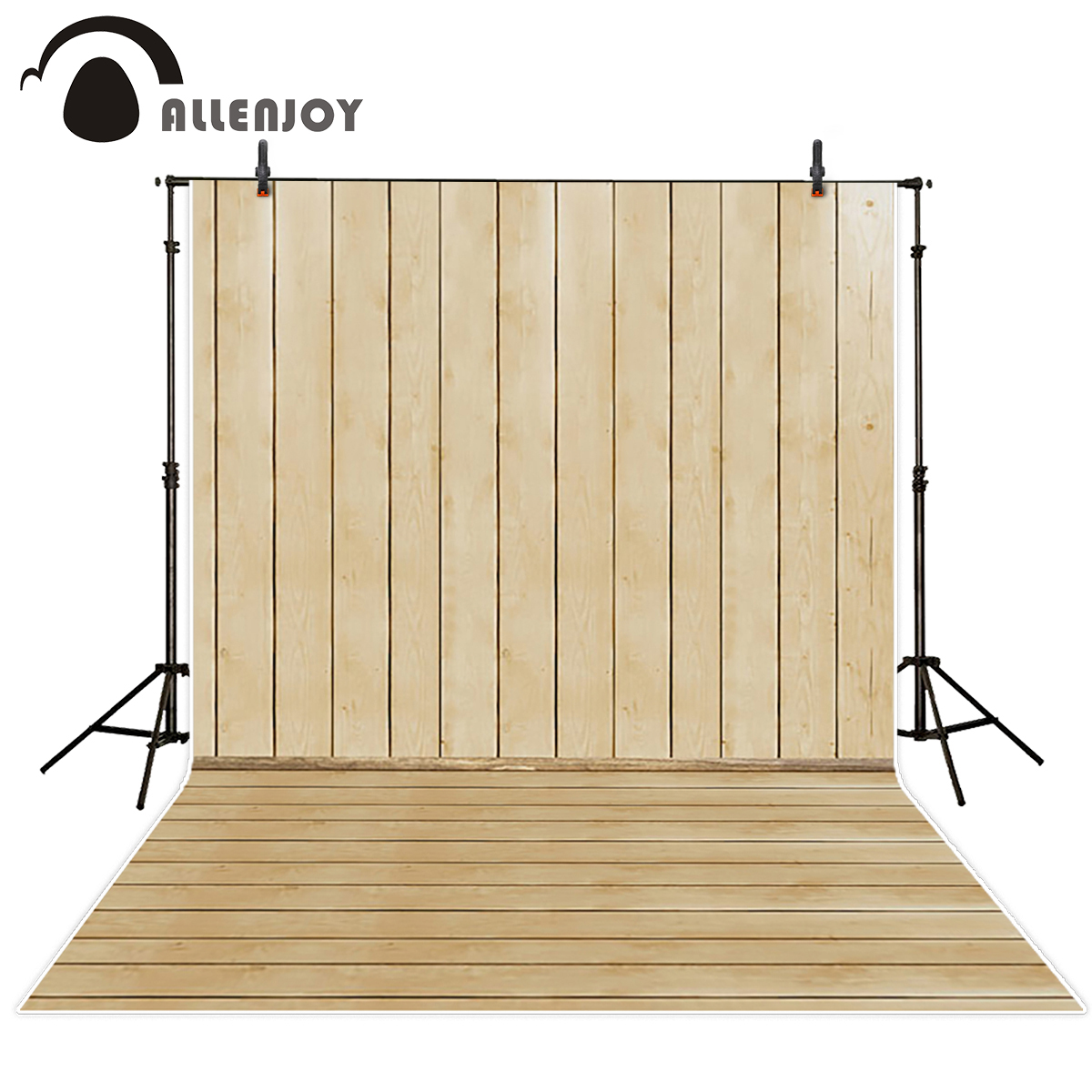 Allenjoy ivory wood wall floor photography backdrop vintage beige board newborn baby shower portrait background photo studio allenjoy photography backdrop brick wall wooden floor white baby shower children background photo studio photocall