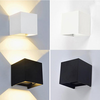 6W Dimmable Led Wall Lamp Luminaire Pared Lamparas Wall Sconce Bedroom Rail Project Square Bedside Room