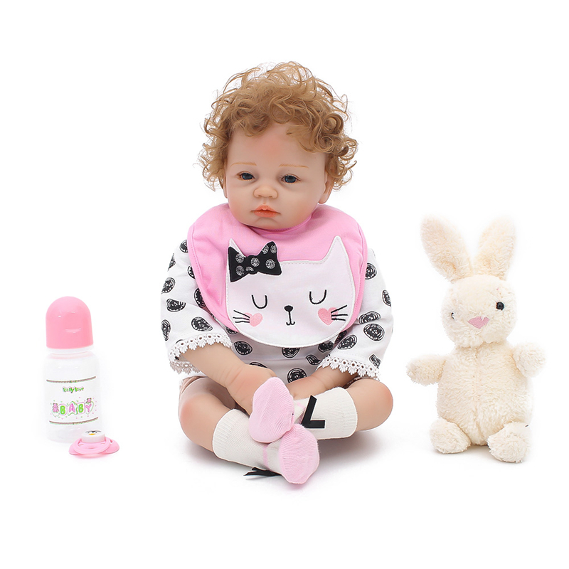 53cm Silicone Reborn Baby Doll Kids Playmate Gift Girls Infant Alive Soft Toys for Bouquets Doll