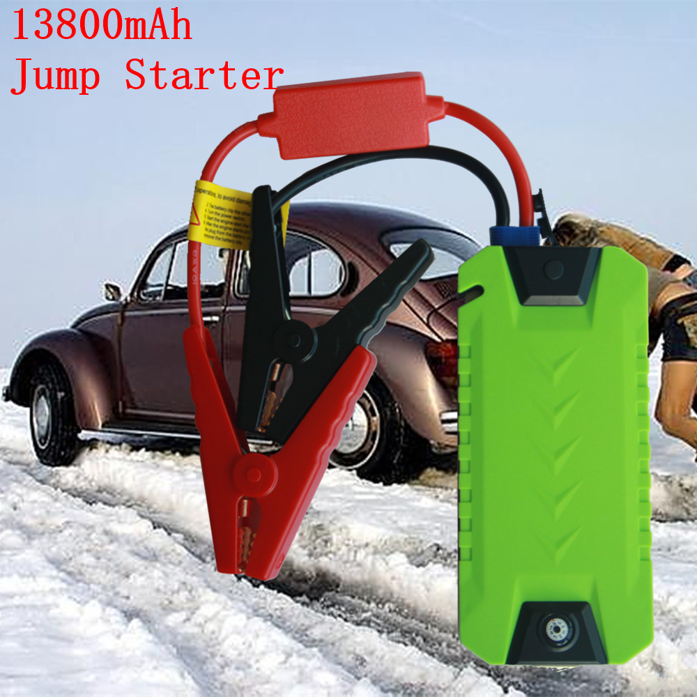 Portable 600A Car Battery Charger Booster Buster 13800mAh Car Jump Starter Power Bank 12V Petrol Diesel Starting Device Compass multi function car battery charger booster buster 13800mah car jump starter power bank 12v petrol diesel starting device compass