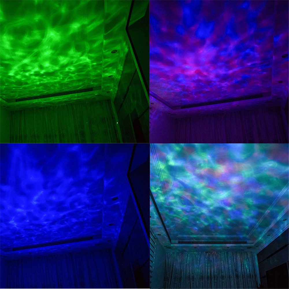 Led Night Table Light Remote Control Ocean Wave Projector