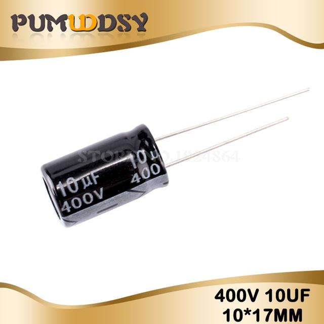 20PCS Higt quality 400V10UF 10*17mm 10UF 400V 10*17 Electrolytic capacitor