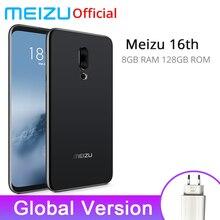 Meizu 16th 8 GB 128 GB Küresel Sürüm Snapdragon 845 6.0 ''Ekran 2160x1080 P 3010 mAh Ön 20.0MP In-Ekran Parmak Izi