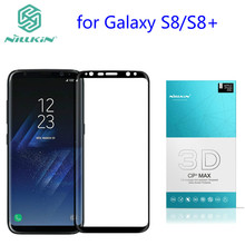 for Galaxy S8 Glass Nillkin 3D CP Full coverage Anti Explosion Tempered Glass Screen Protector For