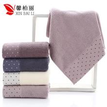 Qualité, santé de lenvironnement, pur coton, serviette de couleur pure simple, gant de toilette épaissi, serviette cadeau, LOGO personnalisé en gros