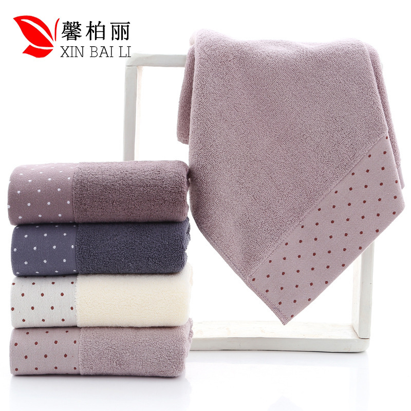 Quality, environmental  health, pure cotton, simple pure color towel, thickened washcloth, gift towel, customized LOGO wholesale-in Storage Bags from Home & Garden