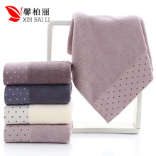 Quality, environmental  health, pure cotton, simple pure color towel, thickened washcloth, gift towel, customized LOGO wholesale