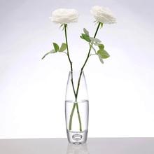 Modern Simple Thickening Transparent Glass Vase Lily Rose flower arrangement Flower Living room bedroom table Decoration Vase Cr