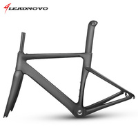 LEADNOVO MTB New Carbon Fiber Road Frame Mechanical Bicycle Frame Bike Carbon Road Frame Fork Seatpost