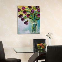 High Skills Artist Handmade Good Quality Abstract Flower Oil Painting On Canvas Hand-painted Modern Artworks