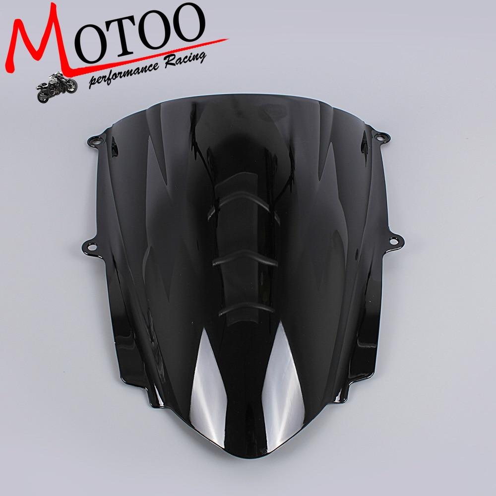 Motoo -Windshield WindScreen Double Bubble for Triumph Daytona 675 2013 2014 2015 motoo windshield windscreen double bubble for honda cbr600rr f4 1999 2000