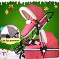 Inverno carrinho de bebê 2 em 1 carrinho de mentir ou amortecimento folding Two-way do bebê quatro estações