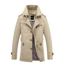 hot deal buy russia trend gentleman men lapel jackets autumn winter black green cotton handsome male pockets button casual outerwear coats