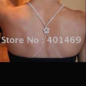 Gorgeous prom diamante adjustable rhinestone star bra strap party evening dress underwear Accessories for women