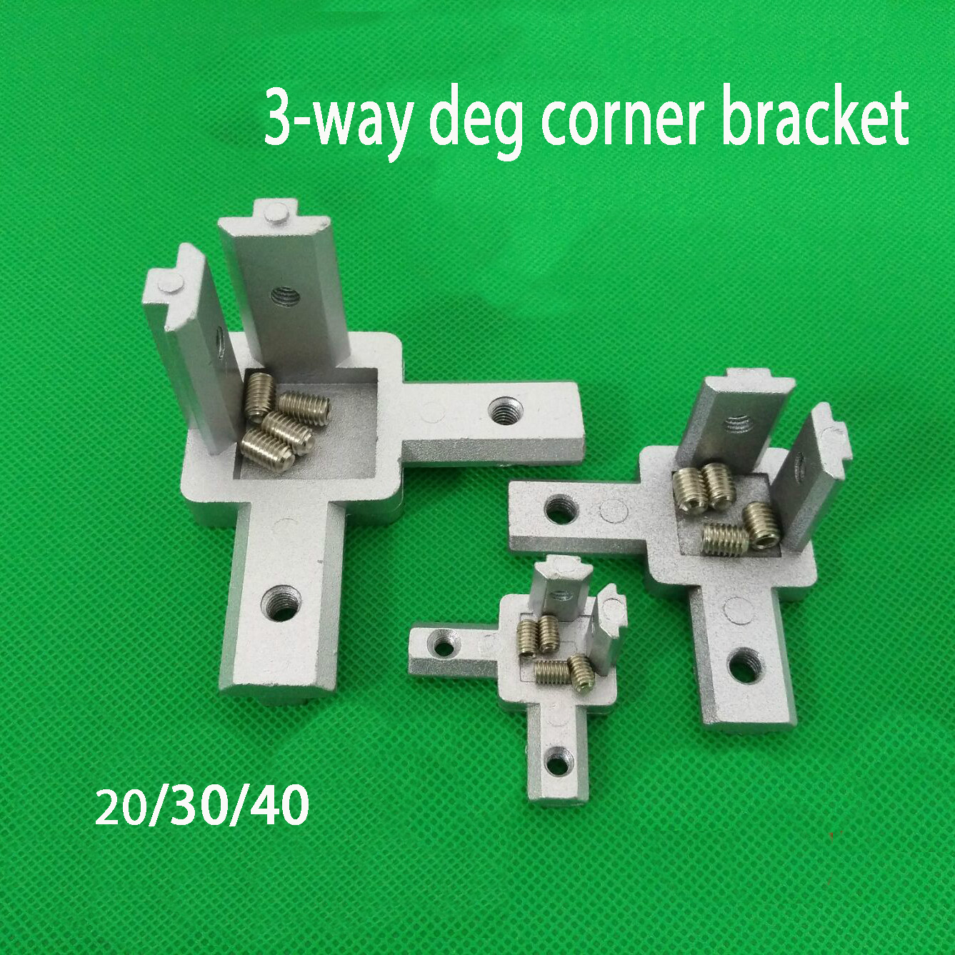 4pcs 3D printer 2020 3030 4040 T Slot Aluminum Profile 3-way 90 deg inside corner bracket Interior Connector f/ Alu-profile image