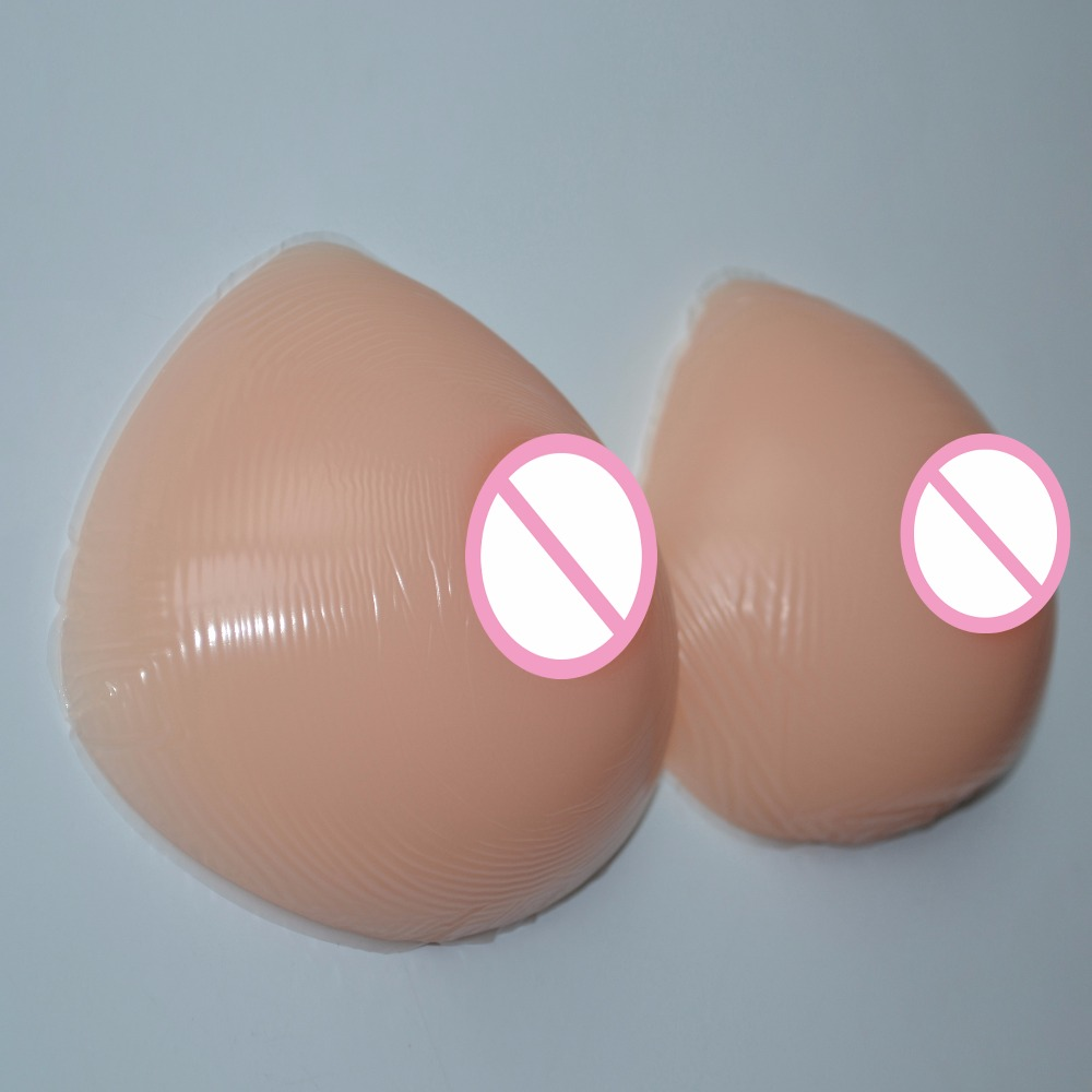 New 800g/Pair 100% Natural Silicone Breast Form Artificial Triangle Shape False Prosthesis Boobs Bust Enhancer For Crossdresser 6000g pair black big breast form crossdresser drag queen artificial boobs silicone breast prosthesis false breast