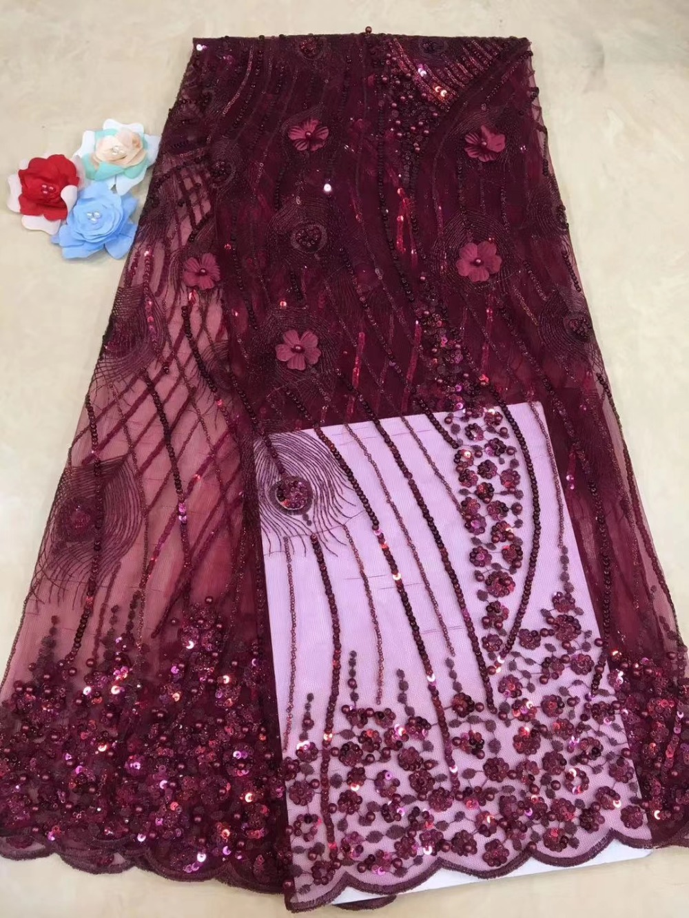 African Lace Fabric 2019 french  Lace Fabrics High Quality net Lace Embroidery French Tulle Lace Fabric For Wedding   JXINAP261African Lace Fabric 2019 french  Lace Fabrics High Quality net Lace Embroidery French Tulle Lace Fabric For Wedding   JXINAP261