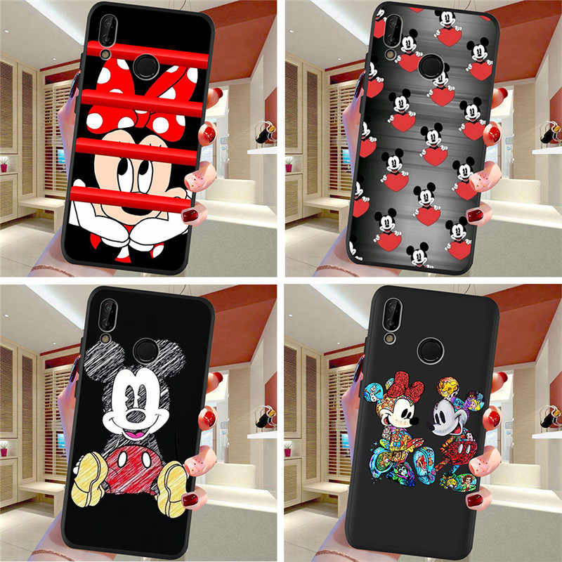 Kartun untuk Huawei P8 P10 P20 P30 Mate 10 20 Honor 8 8X 8C 9 V20 20i 10 Lite PLUS pro Ponsel Case Cover Coque Etui Funda Cute