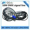 Лучшая цена 10 М DMX сигнала линии металла РЛ DMX 3-КОНТАКТНЫЙ кабель профессиональный сценического освещения dj оборудование