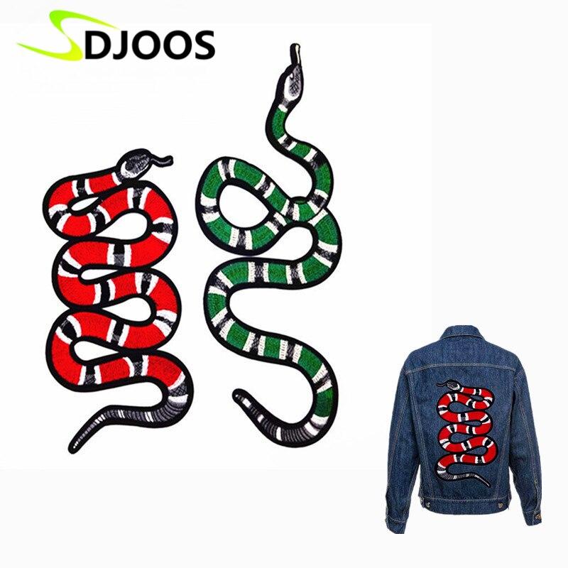 Nuevo patrón de bordado de Animal serpiente Coser-en parches para ...