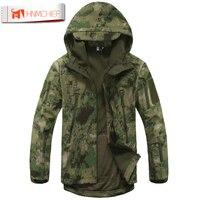 Lurker Shark Skin Softshell V4 Military Tactical Jacket Men Waterproof Windproof Warm Coat Camouflage Hooded Camo