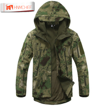 Lurker Shark Skin Softshell V4 Military Tactical Jacket Men Waterproof Windproof Warm Coat Camouflage Hooded Camo Army Dropship