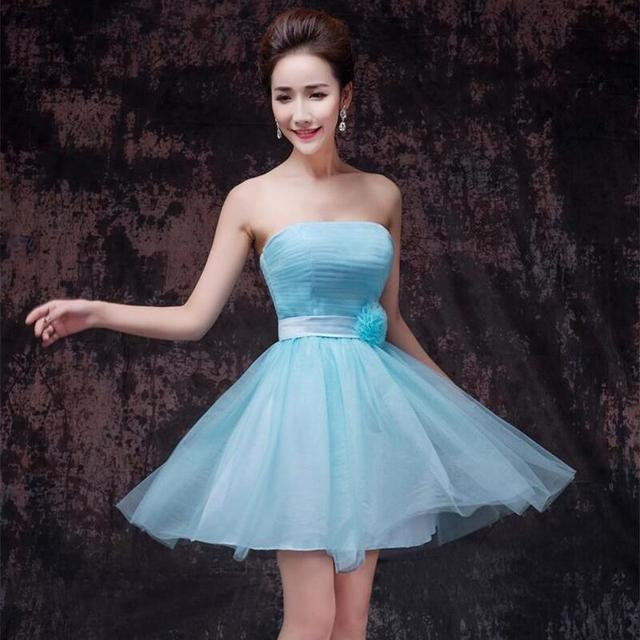 Strapless A-Line Appliques Formal Dress Short Party Dresses robe de Cocktail Dresses Above Knee Homecoming Gowns Red,White